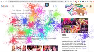 Google's Holi screen